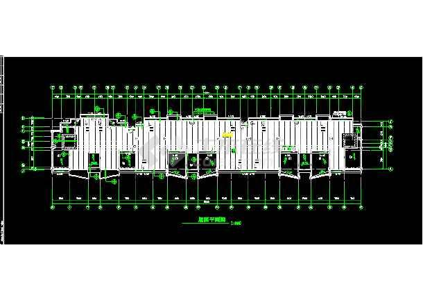 某商铺综合楼建筑CAD设计施工平面图纸-图1