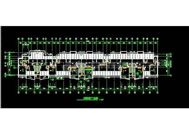 某商铺综合楼建筑CAD设计施工平面图纸-图2
