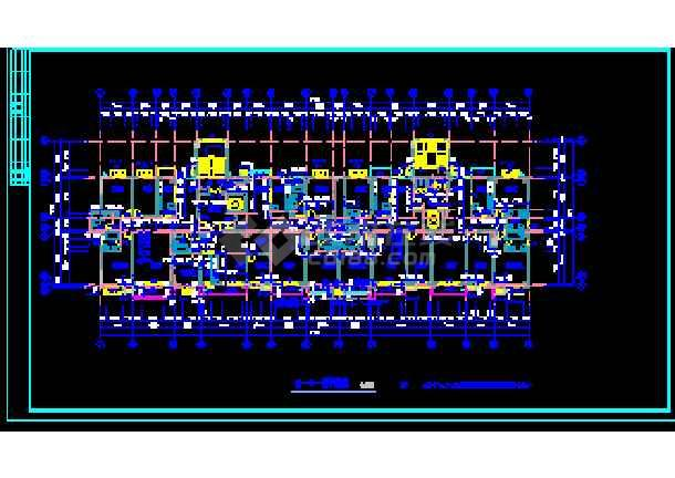 某市商住楼设计建筑CAD施工平立面图纸-图2