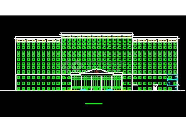 某市五星酒店公共建筑部分CAD设计平立面图纸-图2
