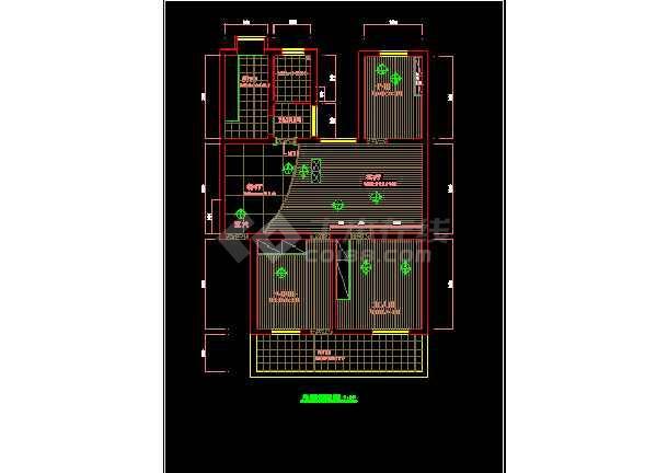某家装详细室内经典cad图纸施工图图纸布置线路宝典秘密合6平面全部