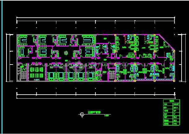 某市阿里郎宾馆方案建筑CAD施工平面设计图纸-图1