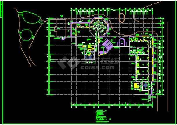 某高级会所设计详细施工CAD建筑平立面图纸-图2