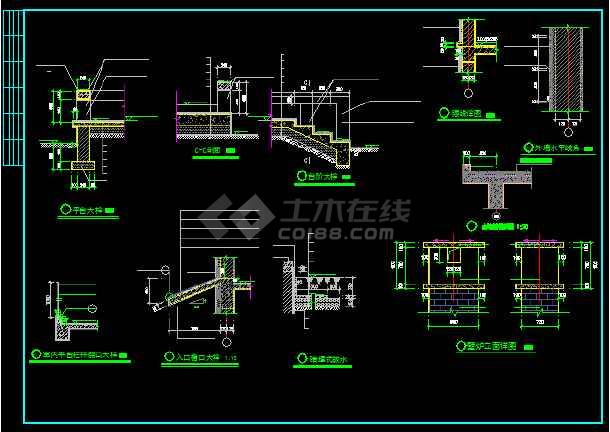 一套简单的别墅建筑方案图纸(共6张)-图3