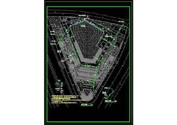 某地锦都新城三角区块景观工程--给排水-图1