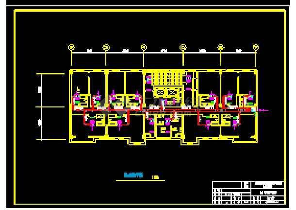 天津某综合楼暖通空调设计cad施工方案图-图1
