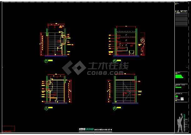 一套某餐厅建筑施工图(附实景照片)-图2
