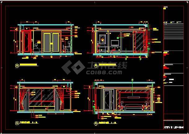 财富中心二期御金台建筑施工图纸(含效果图)-图1