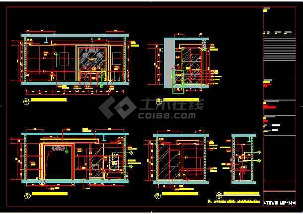 财富中心二期御金台建筑施工图纸(含效果图)-图3