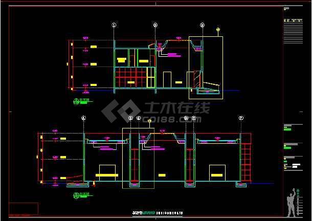 某地酒店建筑施工图纸(含效果图)-图1