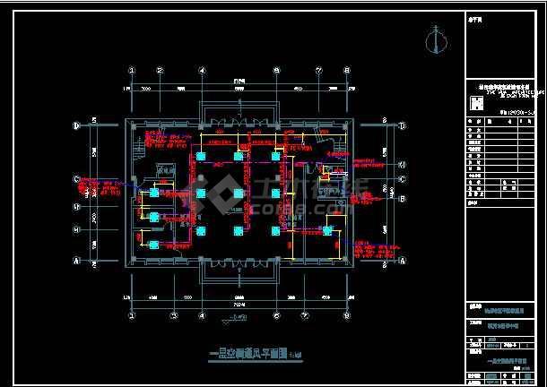 杭州某中学整套暖通设计cad平面施工图-图1