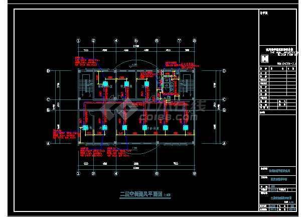 杭州某中学整套暖通设计cad平面施工图-图2