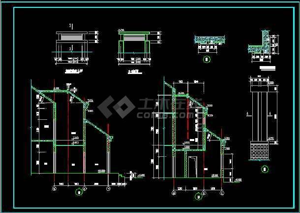 一套二层别墅建筑图纸(共10张)-图1