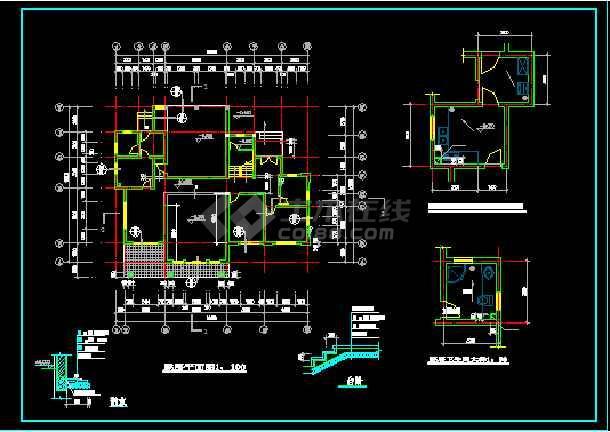 一套二层别墅建筑图纸(共10张)-图2