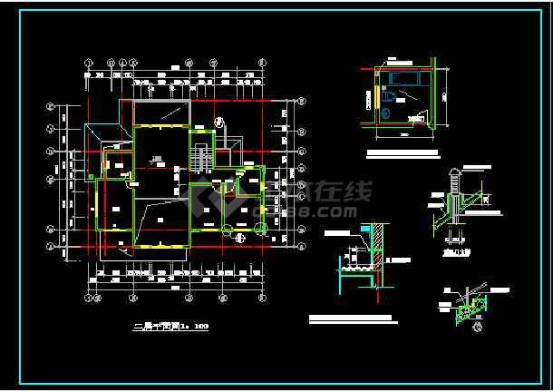 一套二层别墅建筑图纸(共10张)-图3