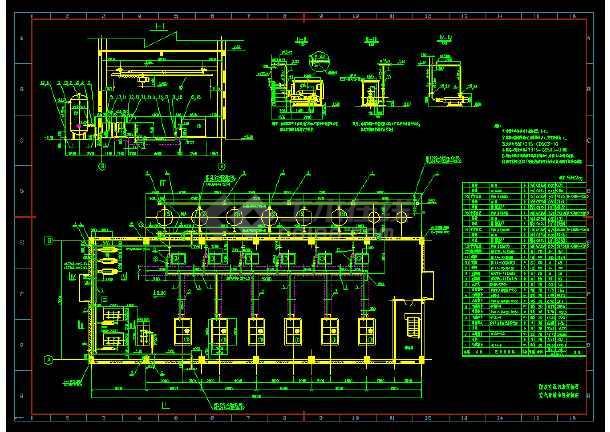 机房安装系统cadv机房常用及压缩布置详图cad打线波图片