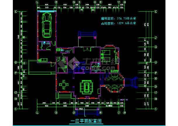 一套二层别墅建筑施工图纸(共9张)-图3