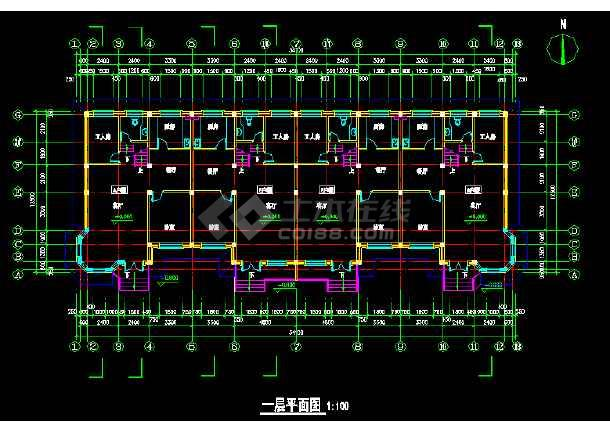 一套多层现代别墅建筑施工图纸(全套)-图2