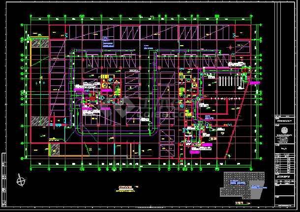 某高层住宅楼cad暖通空调设计施工方案图-图1