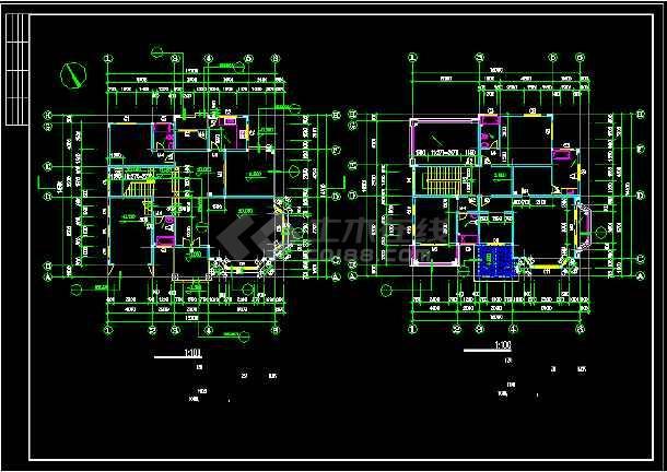 一套现代别墅建筑图纸(共15张)-图3
