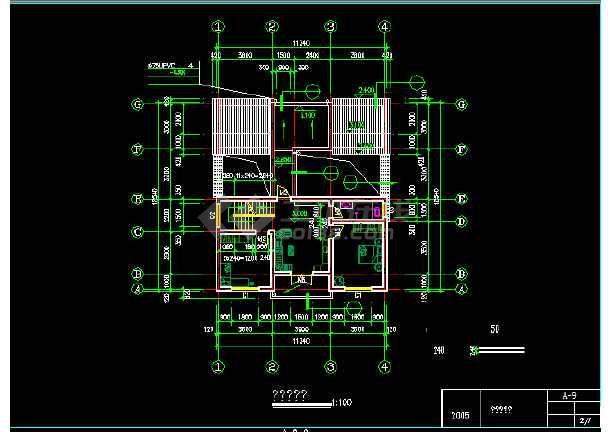 某地新农村建设农民住宅建筑施工图纸-图1
