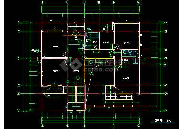 某地现代风格别墅建筑图纸(共9张)-图1