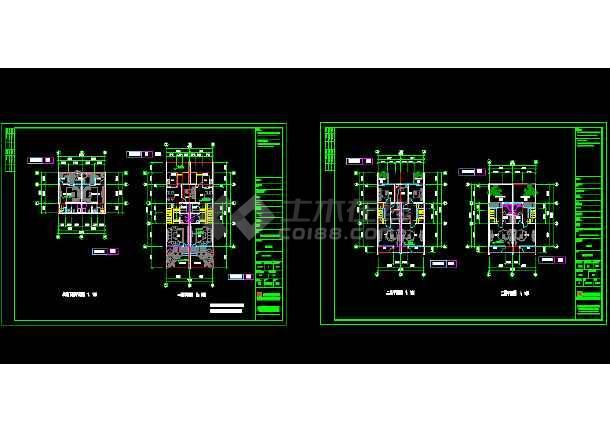 一套多种风格的豪华别墅建筑施工图纸-图2