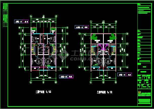 一套多种风格的豪华别墅建筑施工图纸-图3