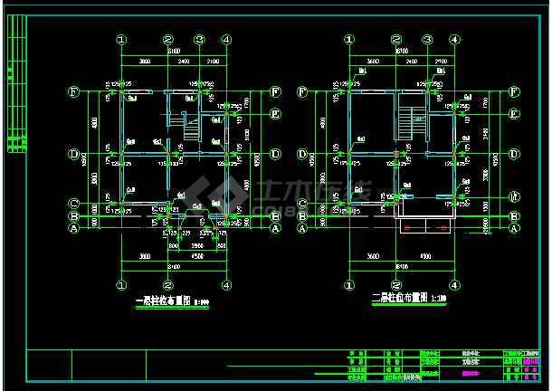 某三层别墅建筑cad结构设计施工图-图1