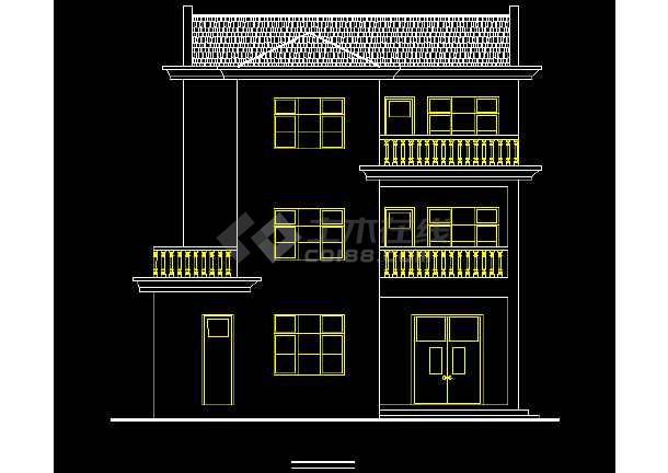 某地新农村建设住宅建筑设计方案图纸-图3