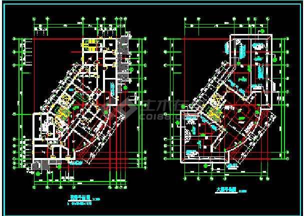 滨江新区新桥村某小区会所建筑CAD设计施工图纸-图1