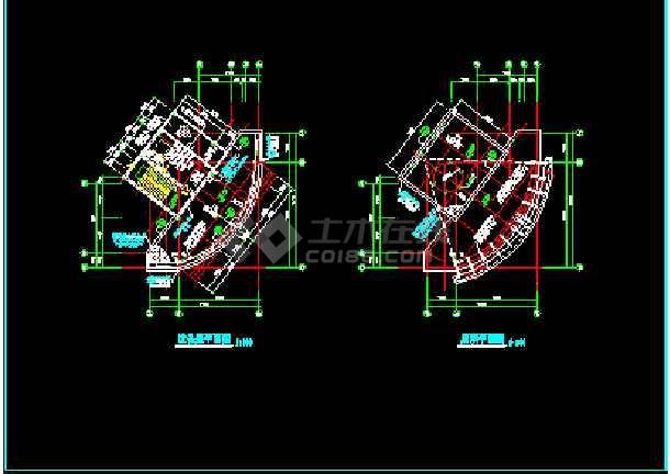 滨江新区新桥村某小区会所建筑CAD设计施工图纸-图2