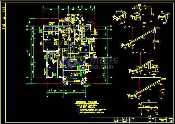 某(12.55x14.05)别墅cad结构施工图-图1