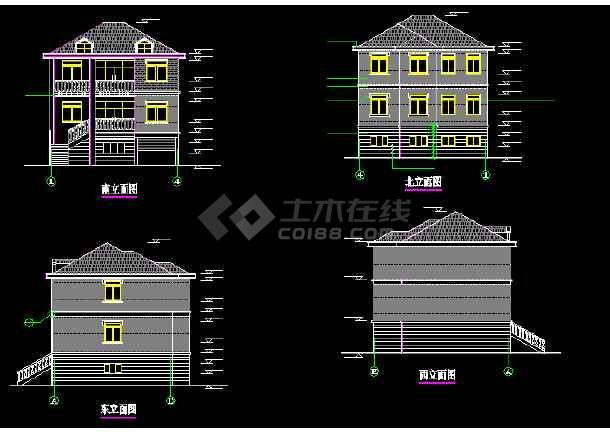 某地比较简单的农居房建筑施工图纸-图2