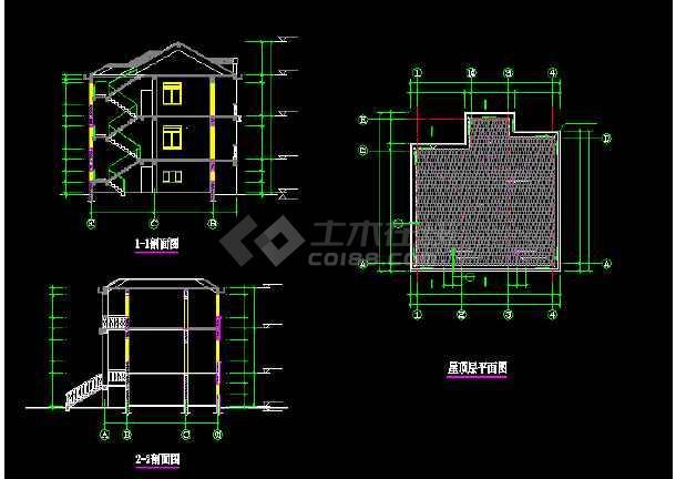 某地比较简单的农居房建筑施工图纸-图3