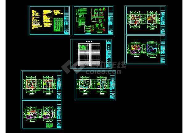 某豪华别墅cad设计建筑结构水电全套施工图-图1