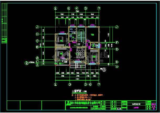 经典小别墅建筑cad建筑结构施工图-图3