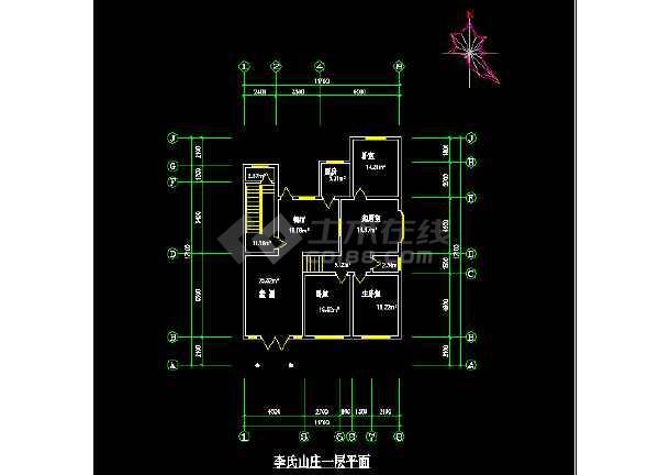 比较简单的农家小型住宅建筑施工图纸-图1