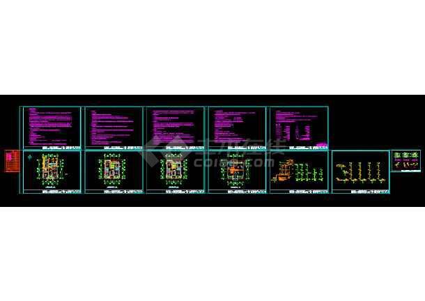 经典独栋别墅cad设计建筑结构施工图带效果图-图3
