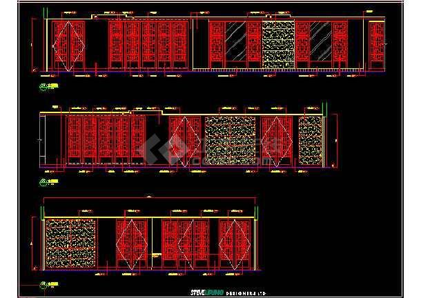 某市奢华酒店中餐厅建筑CAD施工设计图(含效果)-图2