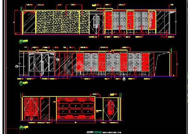 某市奢华酒店中餐厅建筑CAD施工设计图(含效果)-图3
