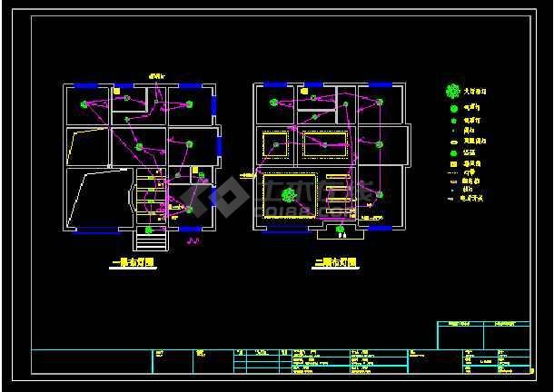 某多层别墅cad设计水电结构详细施工图-图2