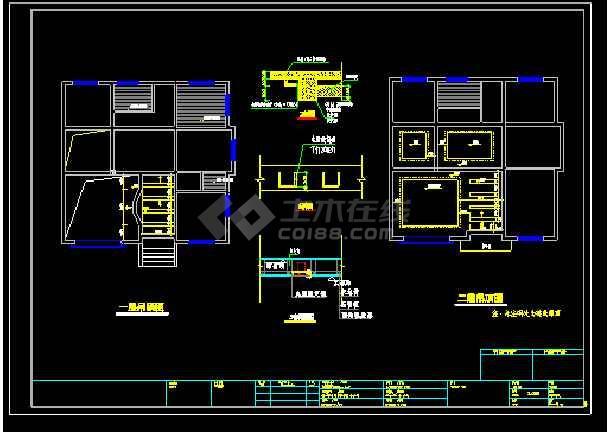 某多层别墅cad设计水电结构详细施工图-图3