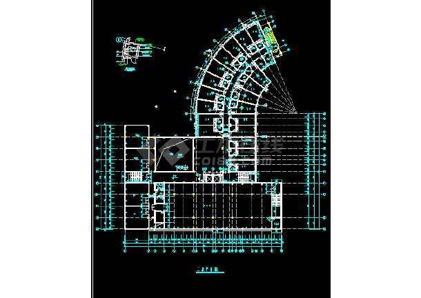 某市酒店建筑全套CAD设计施工平立面图纸-图1