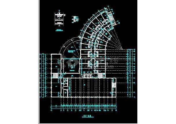 某市酒店建筑全套CAD设计施工平立面图纸-图2