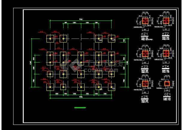 某地三层洋别墅cad建筑结构设计图-图2