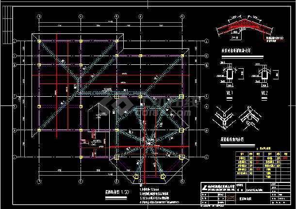 某三层别墅cad设计建筑结构电图全套图-图1