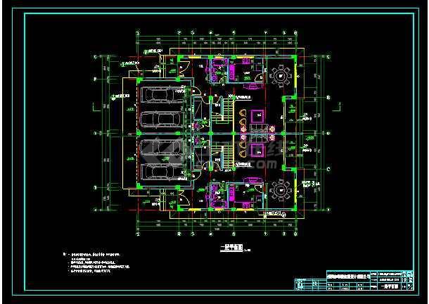 某地多层小别墅cad设计建筑结构施工图-图1