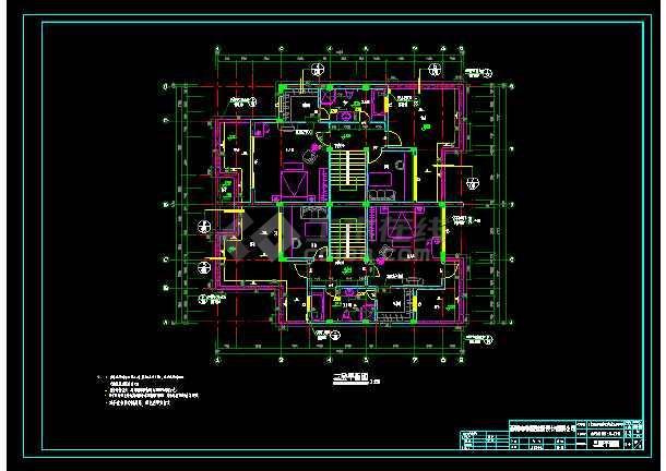 某地多层小别墅cad设计建筑结构施工图-图2
