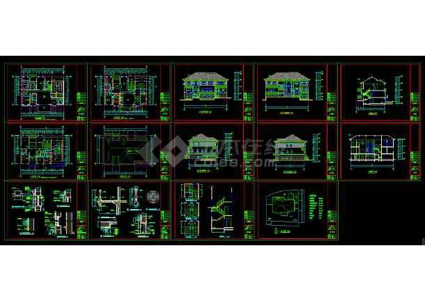 金华某多层别墅cad建筑结构设计施工图-图2